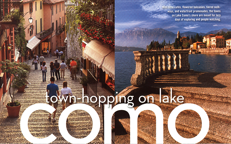 Town-hopping on Lake Como